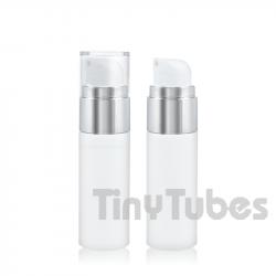 Airless Silver SLIM 30ml Blanco y Aluminio