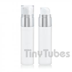 Airless Silver SLIM 50ml Blanco y Aluminio