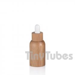 Botella Vidrio 15ml con Revestimiento de Bambú
