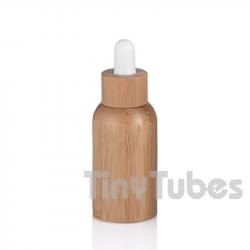 Botella Vidrio 50ml con Revestimiento de Bambú