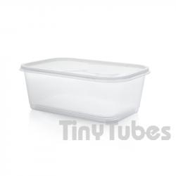 Caja rectangular de 1L con tapa