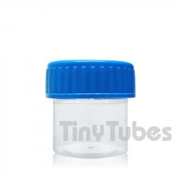 Envase para muestras con tapón rosca azul 30ml