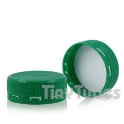 Tapa Verde Diám.38 con Opérculo Adhesivo