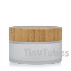 Tarro Cristal Glaseado Bambú 100ML